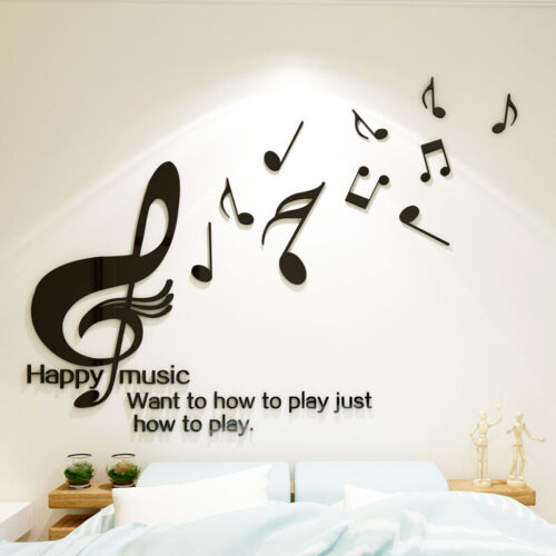 Music Wall Stickers Mural Decals Decor Classroom Children Room Acrylic
