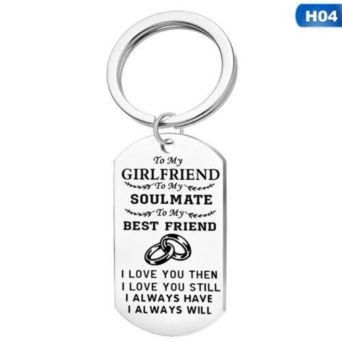 Boyfriend Keychain Lover Keyring Key Chain Girlfriend Couple Valentines Lss  Ti