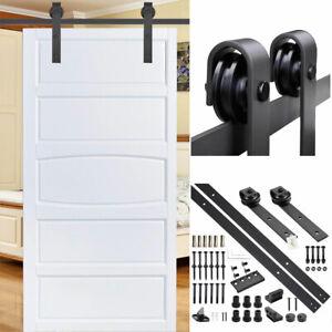 8FT-Sliding-Door-Barn-Farmhouse-Carbon-Steel-Wood-Door-Hardware-Track-Single