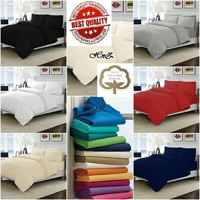 100/% Egyptian Cotton Duvet Cover Or Fitted Sheet Pillow case Charcoal Grey T200
