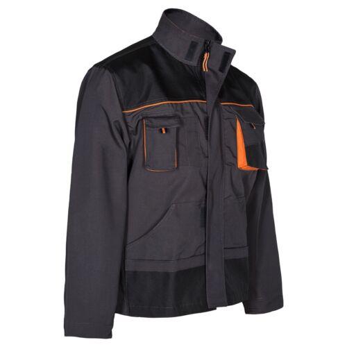 Work Trousers Mens Cargo Combat Style Heavy Duty Knee pads pockets Grey/&orange