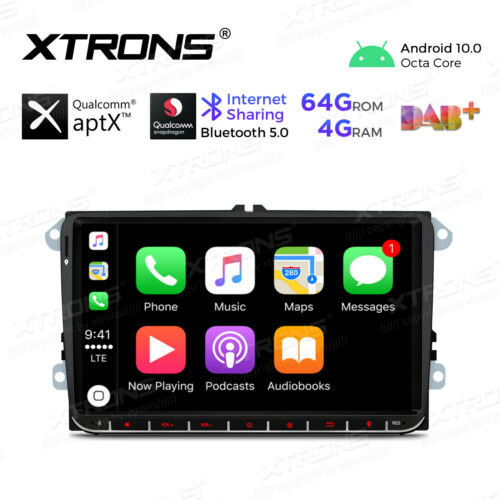 "9/"" Android10.0 Octa-Core 4GB+64GB Car Radio GPS Stereo For VW Polo Caddy CAMERA"
