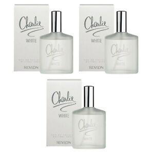 Detalles de 3 pezzi CHARLIE WHITE REVLON eau de toilette donna Natural Spray VAPO 100 ml