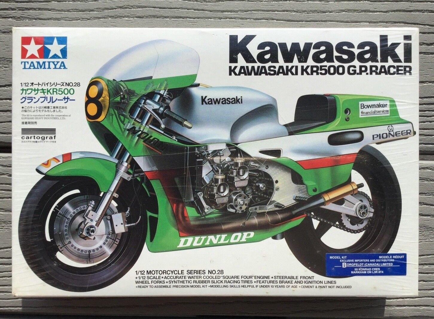 TAMIYA 1  12 KAWASAKI KR500 G.P. RACER SPORTCYCLE modellllerL KIT ITEM 14028 F  S