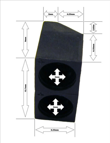 5mm Adjustable Dual Socket Mount Vertical Horizontal Right Angle LED Holder 10x