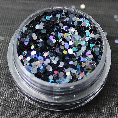 60 Colours Hexagon Glitter Nail Art Face Body Eye Shadow Craft Paint Tattoo