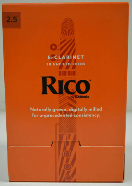 Rico Bb Clarinet Reeds Strength 2.5 3 Pack