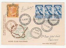 STORIA POSTALE AEREA 1952 REPUBBLICA L. 25 OLTREMARE SU 4º GIRO AEREO Z/4930
