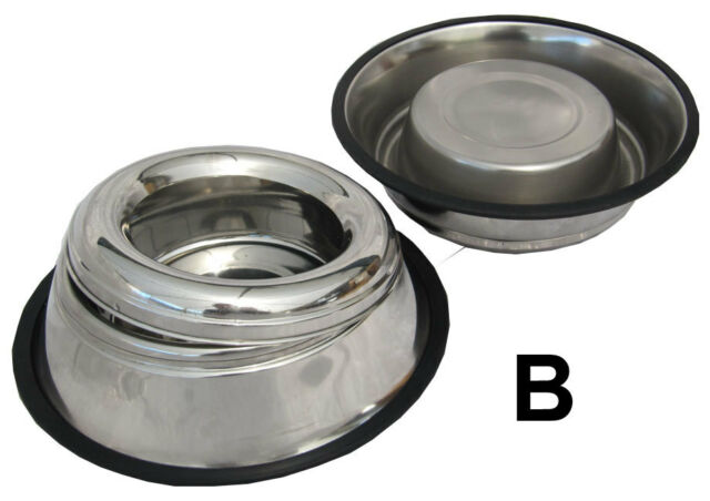 Stainless Steel Food Water Dish Bowl Feeder Pet Food Non Spill Bowl Dish