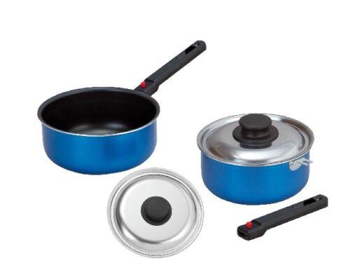 Utensilios de cocina de aluminio Brunner camping utensilios de cocina Set olla con cazuela de la tapa 6 de patrón