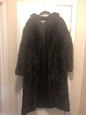 Vintage Dasco real fur beige winter quality coat UK ML