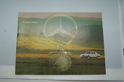 1976 mercedes 450sl 450slc 300d  owners sales brochure w107 w123 w116