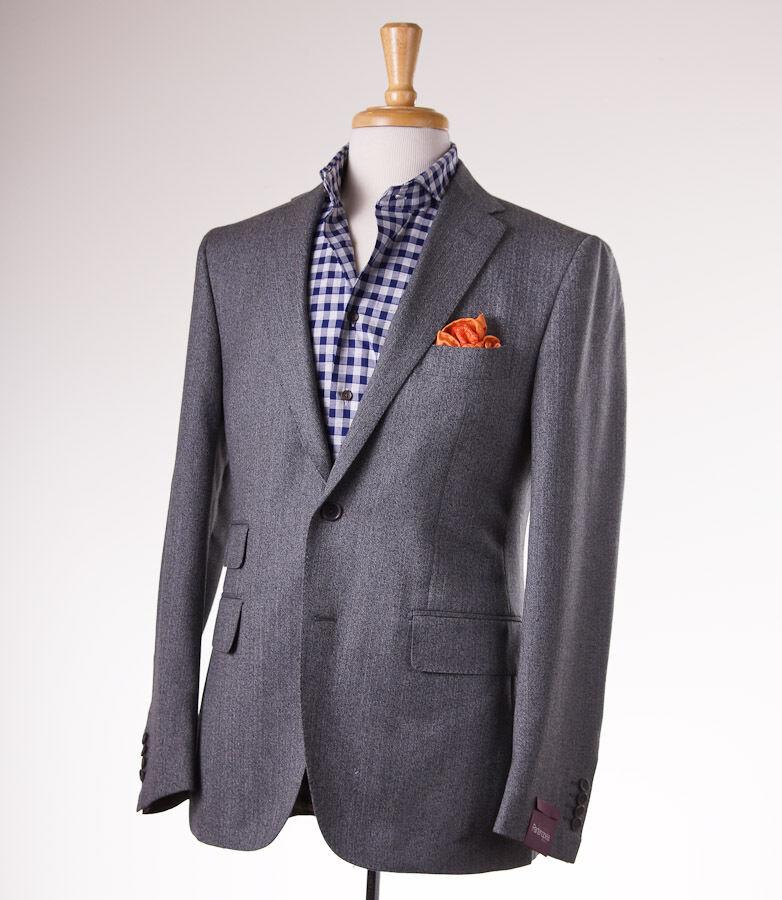 NWT 2795 SARTORIA PARTENOPEA grau Mini Herringbone Wool Sport Coat Slim 42 R