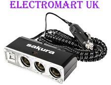 12V 12 VOLT CIGAR CIGARETTE LIGHTER USB SOCKET EXTENSION CABLE LEAD SPLITTER