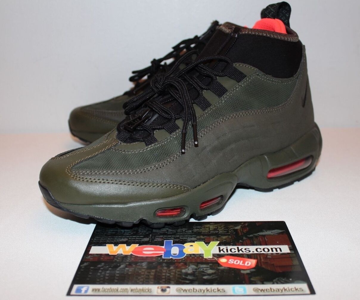 Nike Air Max 95 Sneakerboot Olive Black Sneakers Men's Size 8 New No Box