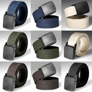 Nylon-Military-Tactical-Men-Belt-Webbing-Canvas-Outdoor-Metal-Buckle-Adjustable