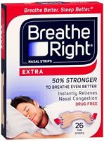 Breathe Right Nasal Strips Extra 26 Each (pack Of 5) on sale