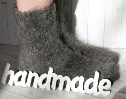 MEN/'s Socks goat down HANDMADE Furry Mohair angora cashmere unisex