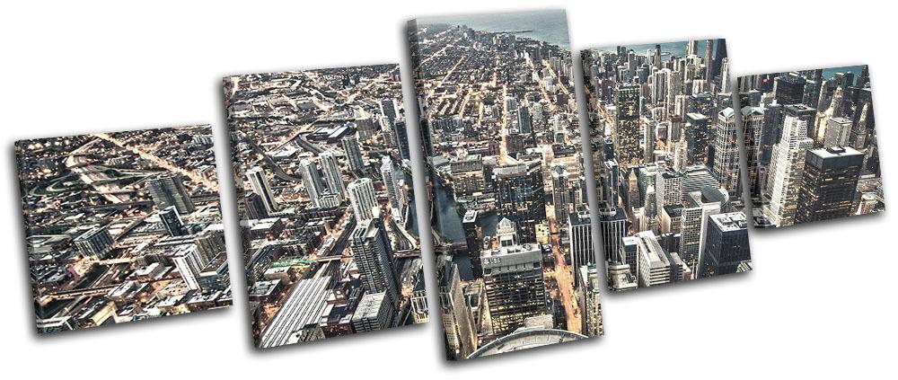 Chicago California Skyline City MULTI LONA pa rojo impresion  arte Foto impresion rojo 6fff2c