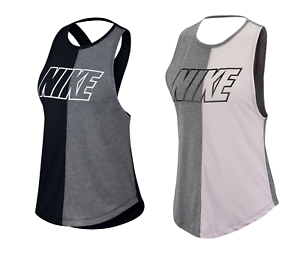 Details zu Nike Miler Damen Ärmelloses Tshirt T Shirt Tank Top Weste Vest Fitness 5496