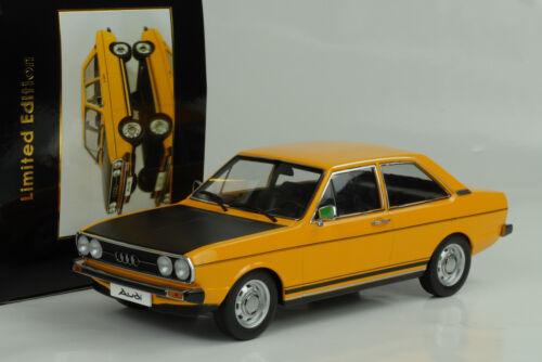 schwarz 1:18 KK diecast 1978 Audi B1 80 GTE ocher yellow 1975 black ocker