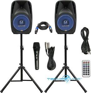 """ALPHASONIK ALL-IN-ONE 15"""" POWERED 2500W PRO DJ AMPLIFIED LOUD SPEAKERS"""