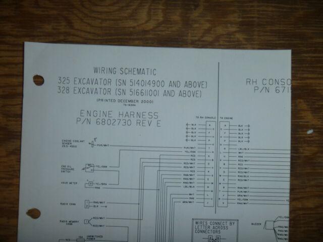 Bobcat 325 328 Excavator Electrical Wiring Diagram