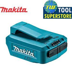 Makita-DEBADP-05-Twin-Porta-USB-Caricabatteria-Adattatore-per-batterie-14-4-V-amp-18-V