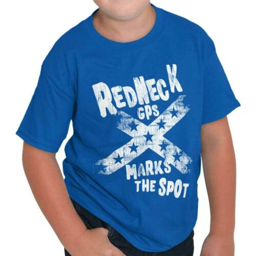 X Marks The Spot Funny Country Southern Flag Youth T-Shirt Tees Tshirt For Kids