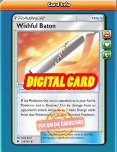 4X Wishful Baton 128//147 Pokemon Online Card TCG PTCGO Digital Card