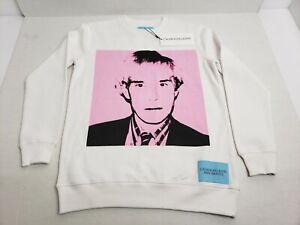 Calvin-Klein-Jeans-X-Andy-Warhol-Crewneck-Sweatshirt-Unisex-Adult-XS-White