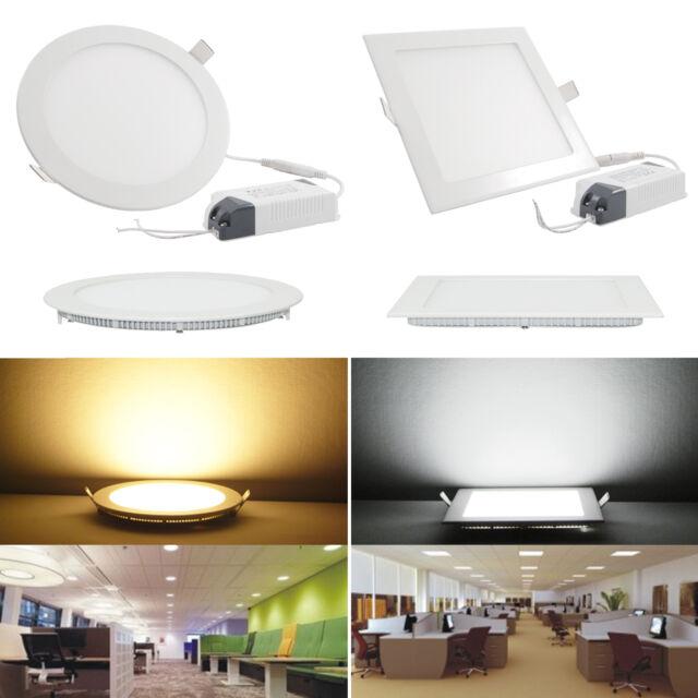 6W/9W/12W/15W/18W/21 LED Panel Einbauleuchte Dimmbar EinbauStrahler Deckenlampen