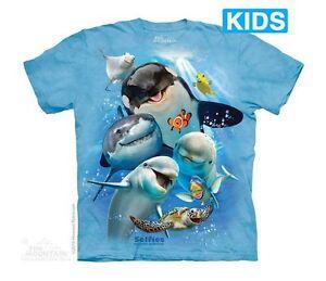 Ocean-Selfie-Kids-T-Shirt-by-The-Mountain-Aquatic-Sea-Marine-Animals-Youth-NEW