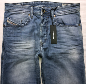 Da-Uomo-DIESEL-BUSTER-Jeans-W29-L32-Blu-Regular-Slim-Tapered-Wash-0842H-stretch