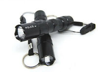 1pc 3W Mini LED Flashlight Torch Handy Light Lamp Keychain Keyring Black
