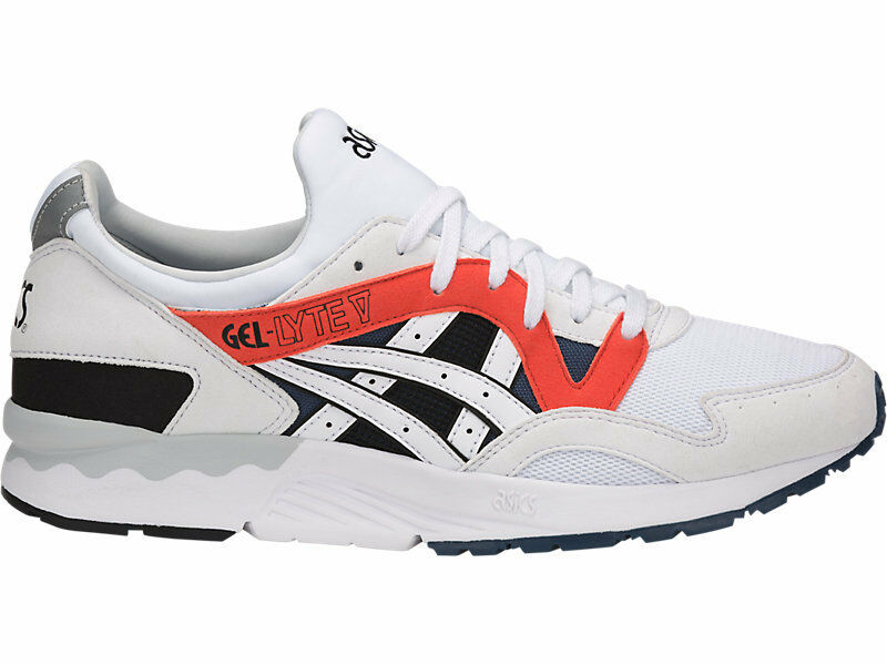 Asics Gel Lyte V 5 Baskets Blanc OG Orange Bleu Chaussures Bateau internationalement