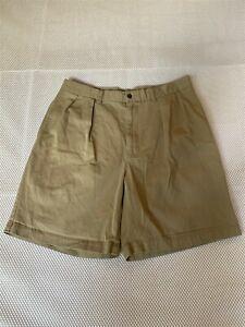 Polo-Ralph-Lauren-35-x-8-5-034-Khaki-Tyler-Short-Pleated-100-Cotton-Chino-Shorts