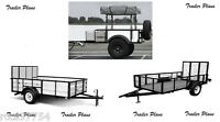 (3 Sets)trailer Plans 4x6 Off Road - 6x12 Utility - 5x10 Utility Trailers. 1