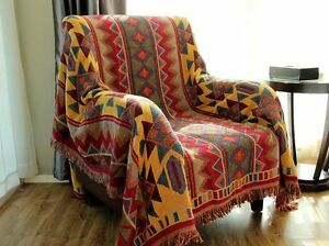 Image Is Loading Area Rugs Tapestry AZTEC Navajo Throw Blanket Sofa