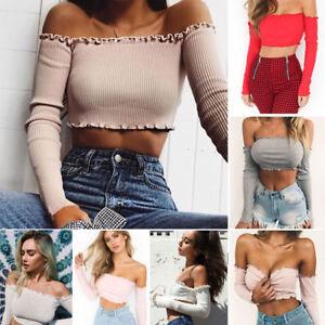 1a7cb5a6a64 Fashion Summer Women Floral Casual Loose Blouse Off Shoulder Crop ...