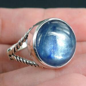 BLUE-KYANITE-amp-925-STERLING-SILVER-Ring-Jewellery-Size-N-1-2-UK-7-25-USA