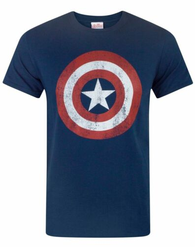 Captain America Distressed Logo Men/'s T-Shirt