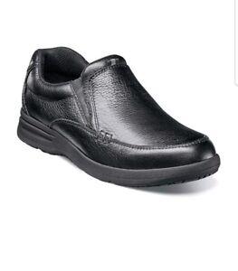 Nunn Bush Mens Cam Moc Toe Slip On 84696 007 Black