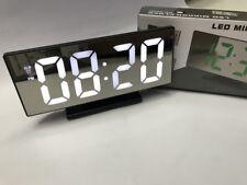 Orologio Sveglia Datario Ds-3618L Specchio Termometro Digitale Da Tavolo Lcd