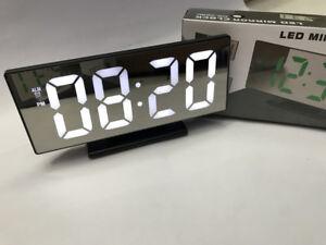Adroit Ds Orologio Sveglia Datario Ds-3618l Specchio Termometro Digitale Da Tavolo Lcd MatéRiaux De Qualité SupéRieure