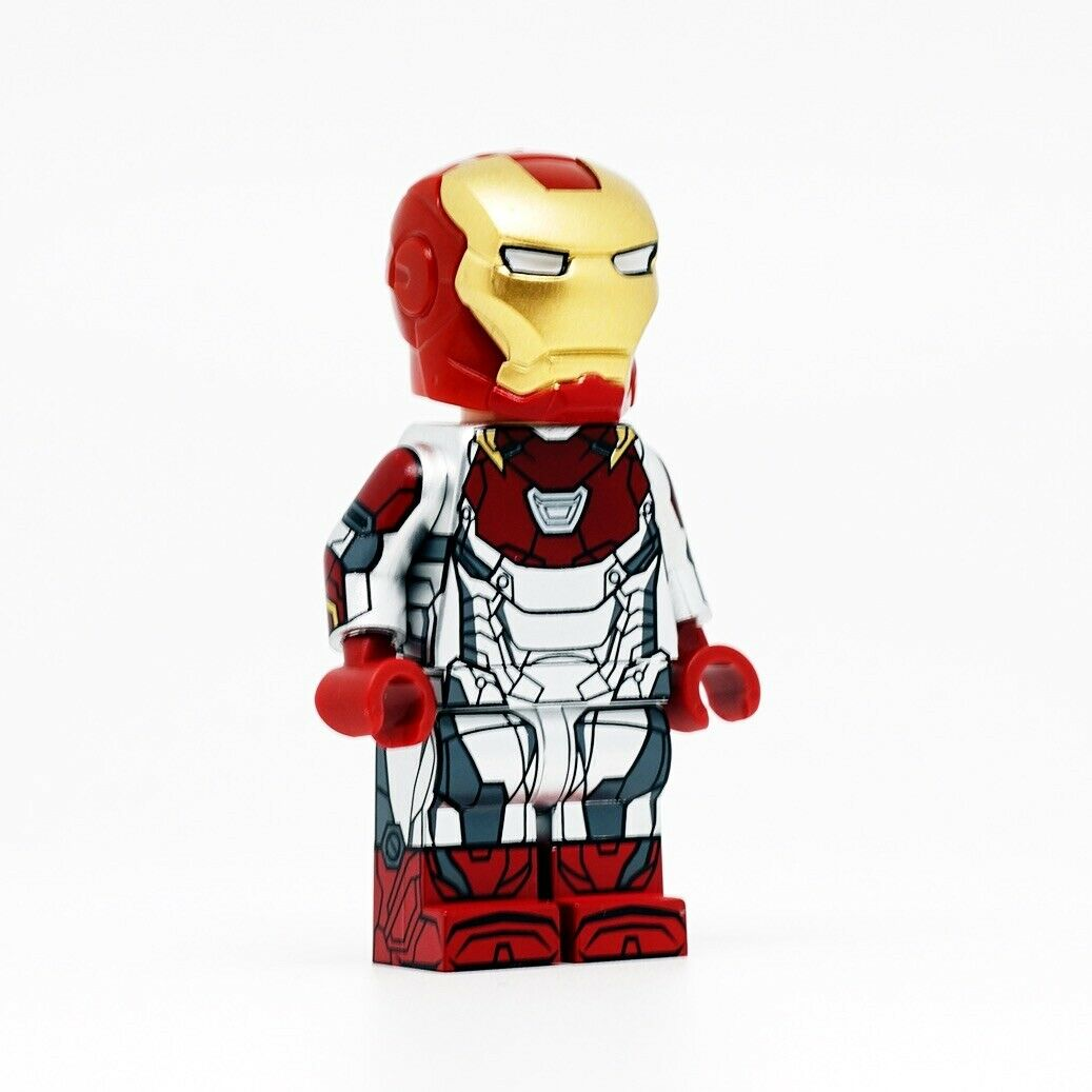 NEW DRAGON BRICK Iron Man Tony Stark Armor Mark 47 Lego Minifigure