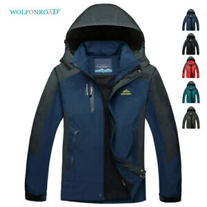 Waterproof-Parka-Mens-Soft-Shell-Jackets-Hooded-Coats-Climbing-Raincoat-Outwear