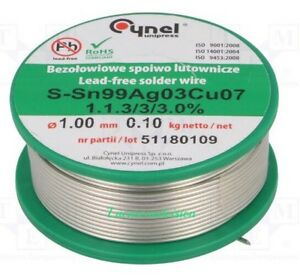 e7b05d0e622 HQ Cynel Tin Lead 97 3 S Flux Multicored SILVER Solder Wire 100g ...