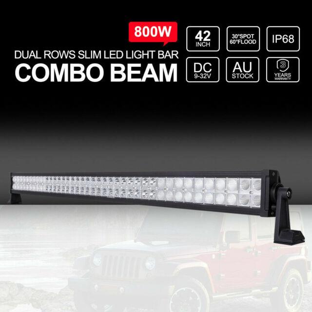 42 inch 800W LED Light Bar Spot Flood Combo Straight Work Driving Lamp 12V