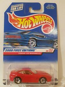 Hot-Wheels-2000-Ferrari-550-MARANELLO-RED-VHTF-NEAR-MINT-OPENED-CARD